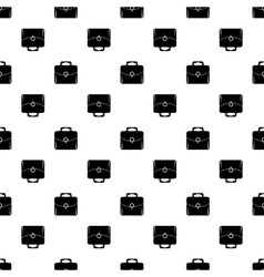 Bag Silhouette Seamless Pattern Briefcase vector image