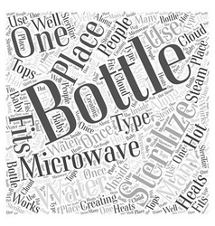 Bottle sterilizer word cloud concept vector