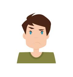 Boy expression face vector