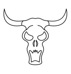 Buffalo skull icon outline style vector