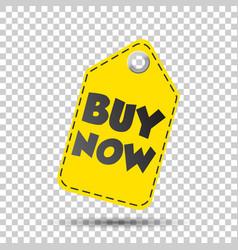 Buy now hang tag vector