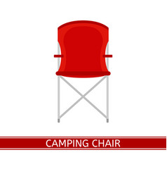 camping chair icon vector image