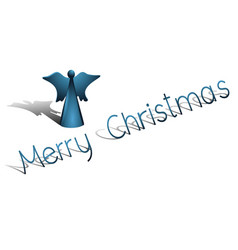 christmas background with blue angel vector image