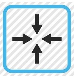 Compress arrows icon in a frame vector