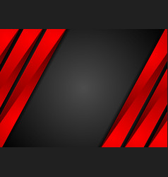 contrast red black tech corporate background vector image vector image