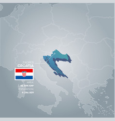 croatia information map vector image vector image