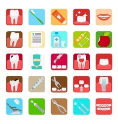 Dental clinic services icons vector