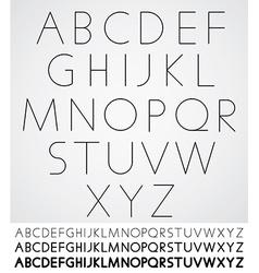 Elegant light font alphabet letters design vector
