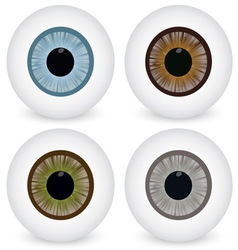 Eye ball set vector image vector image