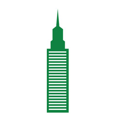 green building tower vector image
