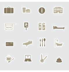 Hotel and motel stickers eps10 vector