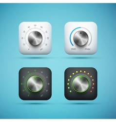 Knob icons set vector