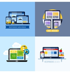 Modern flat concepts of responsive web design vector image vector image