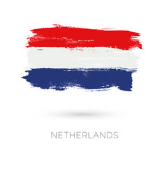 netherlands colorful brush strokes painted vector image vector image