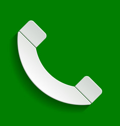 Phone sign paper whitish vector