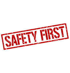 Safety first stamp vector