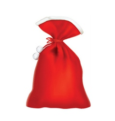 Santa red sack vector