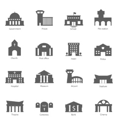 Set of government buildings vector image