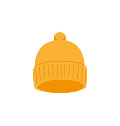 snowboarding cap flat icon isolated vector image vector image