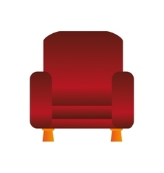 sofa chair icon vector image