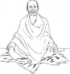Sri narayana guru vector