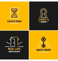 The emblem for the quest room vector image vector image