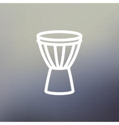 Timpani thin line icon vector