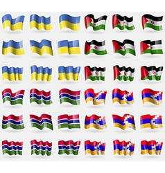Ukraine western sahara gambia karabakh republic vector
