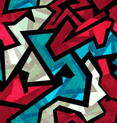 urban red seamless pattern with grunge effect vector image