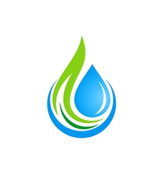 water drop ecology logo vector image