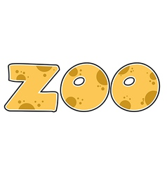 ZOO Text vector image vector image