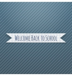 Welcome back to school paper badge vector