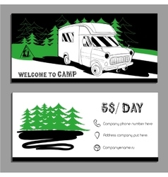 Cars recreational vehicles vector