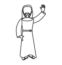 Jesus christ religion catholic outline vector