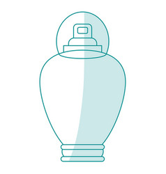 blue silhouette shading cartoon bottle fragrance vector image