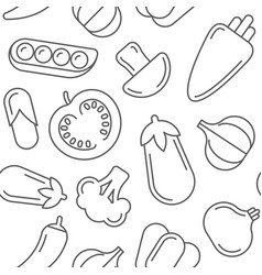 Assorted vegetables seamless pattern vector