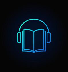 Audiobook blue icon vector