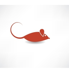 Red rat icon vector