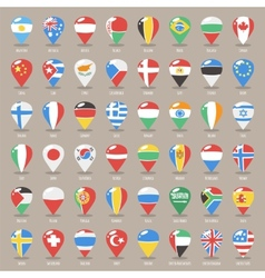 Set of flat map pointers with world states flags vector