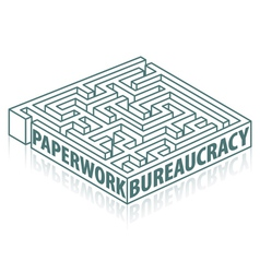 Paperwork and bureaucracy vector