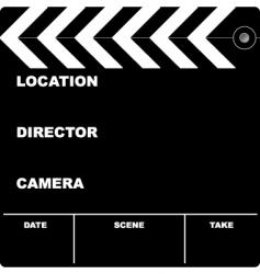 Film clapper vector