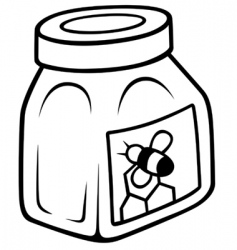 Honey in the glass jar vector
