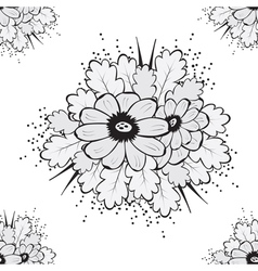 Abstract Beautiful Seamless pattern with flower vector image