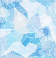 ice seamless pattern with grunge effect vector image