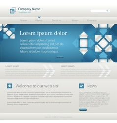 Website creative template vector