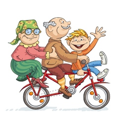 Fun bike ride vector