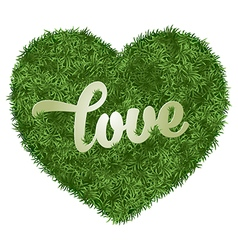 Love in grass vector