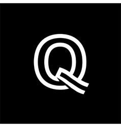 Capital letter q from the white interwoven strips vector