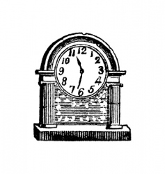 antique clock vector image vector image