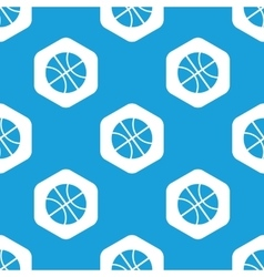 Basketball hexagon pattern vector image